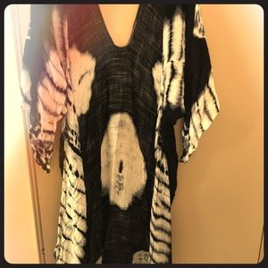 Three Bird Nest Jackets & Coats - Boho b/w long line kimono